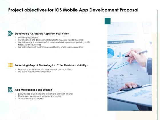Project Objectives For IOS Mobile App Development Proposal Ppt PowerPoint Presentation Ideas Graphics Design