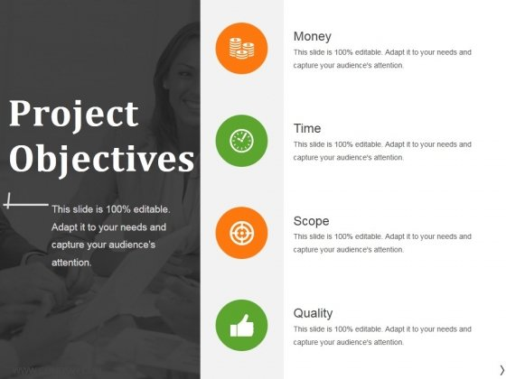 project objectives ppt powerpoint presentation professional infographic template