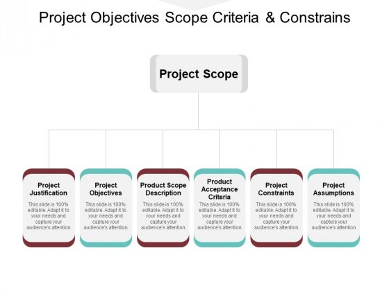 Project Objectives Scope Criteria And Constrains Ppt PowerPoint Presentation Infographic Template Layout Ideas