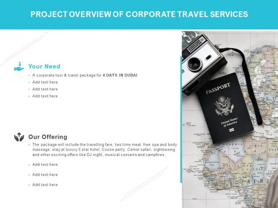 Project Overview Of Corporate Travel Services Ppt PowerPoint Presentation Outline Example