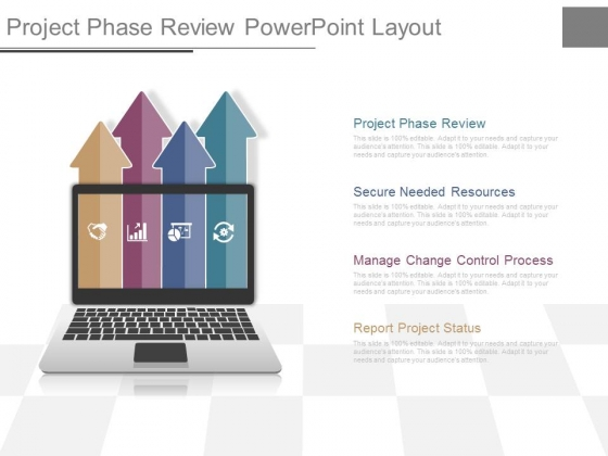 Project Phase Review Powerpoint Layout