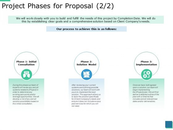 Project Phases For Proposal Implementation Ppt PowerPoint Presentation Inspiration Icons