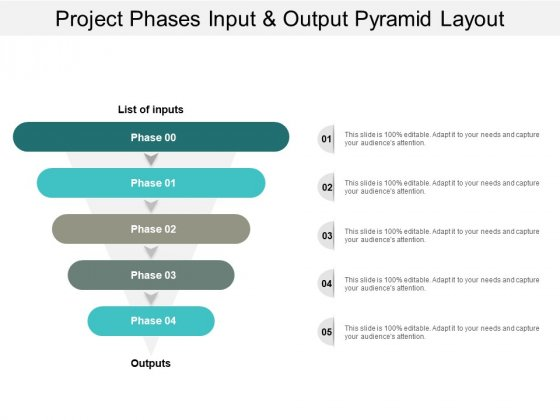 Project Phases Input And Output Pyramid Layout Ppt PowerPoint Presentation Slides Example Topics