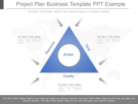 Project Plan Business Template Ppt Example