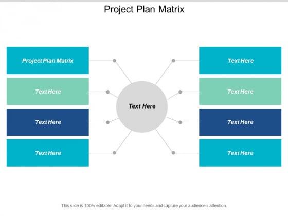 Project Plan Matrix Ppt PowerPoint Presentation Portfolio Graphics Pictures Cpb