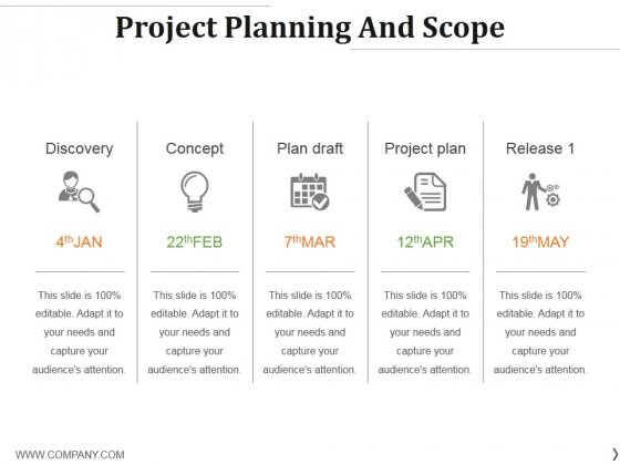 Project Planning And Scope Ppt PowerPoint Presentation Professional Background Images