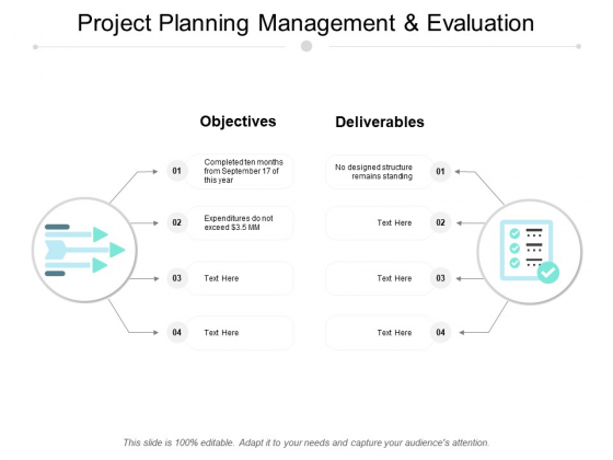 Project Planning Management And Evaluation Ppt Powerpoint Presentation Outline Graphics Pictures
