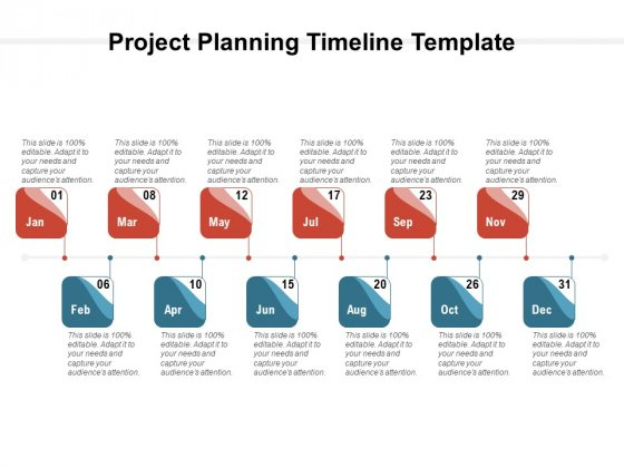 Project Planning Timeline Template Ppt PowerPoint Presentation Inspiration Shapes PDF