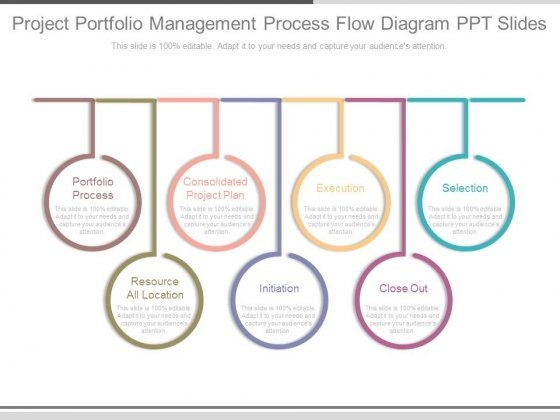 Project Portfolio Management Process Flow Diagram Ppt Slides