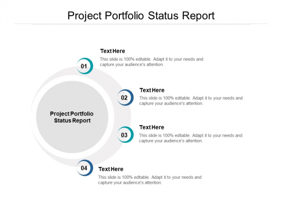 Project Portfolio Status Report Ppt PowerPoint Presentation Summary Guidelines Cpb