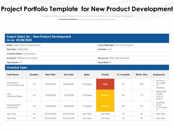 Project_Portfolio_Template_For_New_Product_Development_Ppt_PowerPoint_Presentation_Summary_Structure_PDF_Slide_1