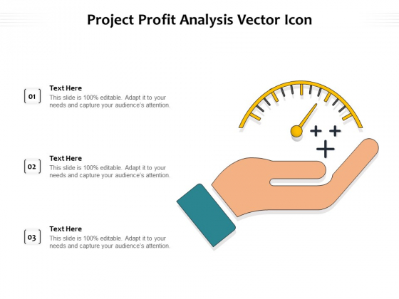 Project Profit Analysis Vector Icon Ppt PowerPoint Presentation Outline Graphics Template PDF