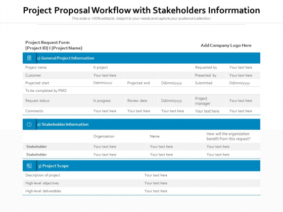 Project_Proposal_Workflow_With_Stakeholders_Inforrmation_Ppt_PowerPoint_Presentation_File_Portfolio_PDF_Slide_1