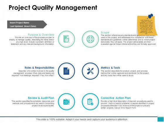Project Quality Management Ppt PowerPoint Presentation Gallery Inspiration