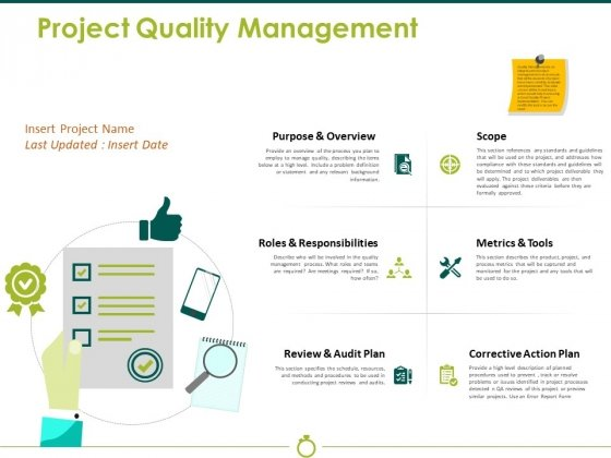 Project Quality Management Ppt PowerPoint Presentation Ideas Microsoft
