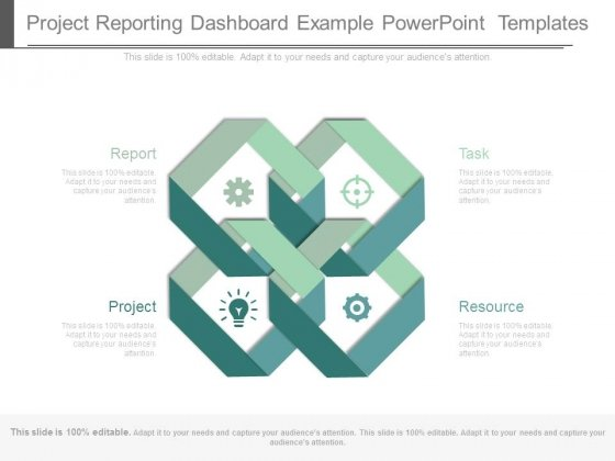 Project Reporting Dashboard Example Powerpoint Templates