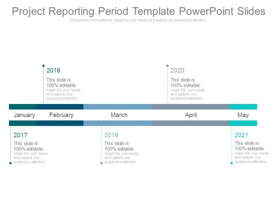 Project Reporting Period Template Powerpoint Slides