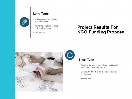 Project Results For NGO Funding Proposal Ppt PowerPoint Presentation Show Ideas