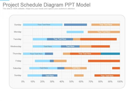 Project Schedule Diagram Ppt Model