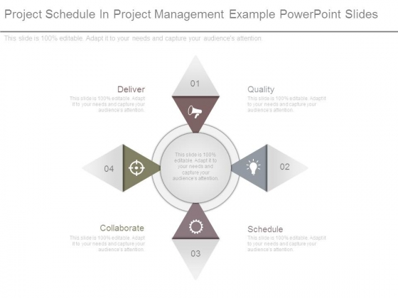 Project Schedule In Project Management Example Powerpoint Slides