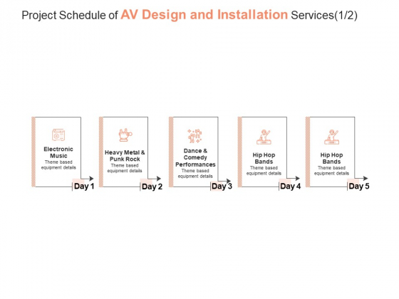 Project Schedule Of AV Design And Installation Services Hip Hop Ppt PowerPoint Presentation Pictures Visual Aids