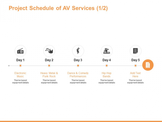 Project Schedule Of AV Services Equipment Ppt PowerPoint Presentation Ideas Introduction
