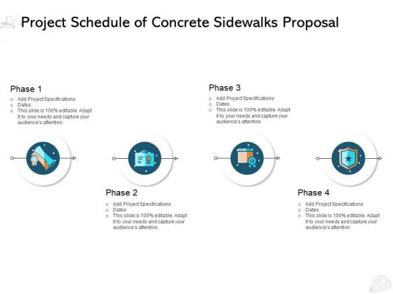 Project Schedule Of Concrete Sidewalks Proposal Ppt PowerPoint Presentation Styles Design Templates
