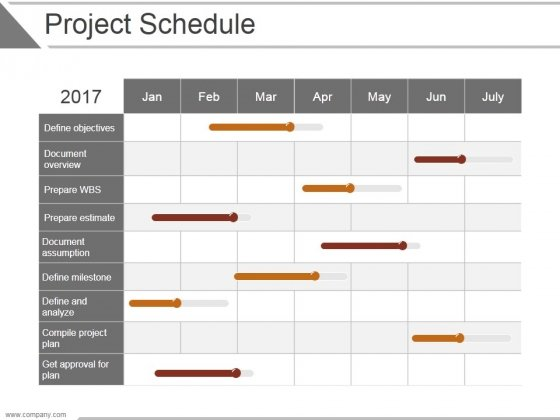 project schedule ppt powerpoint presentation ideas powerpoint