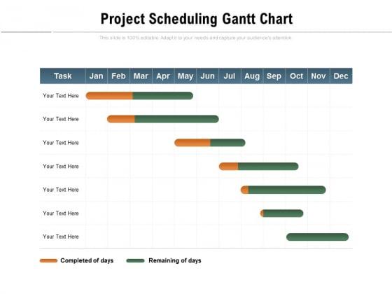 Project Scheduling Gantt Chart Ppt PowerPoint Presentation Professional Master Slide