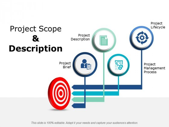 Project Scope And Description Ppt PowerPoint Presentation Gallery Smartart