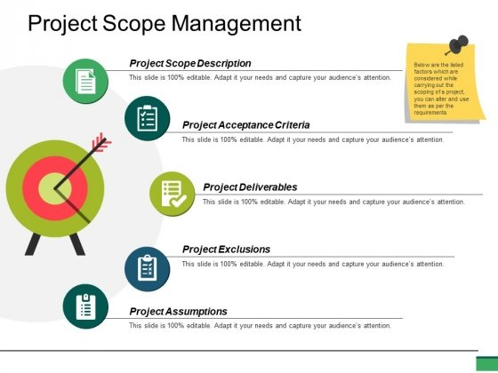 Project Scope Management Ppt PowerPoint Presentation Gallery Example Topics