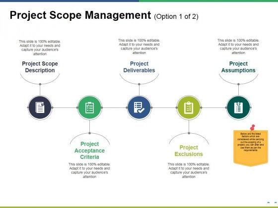 Project Scope Management Template 2 Ppt PowerPoint Presentation Layouts Diagrams