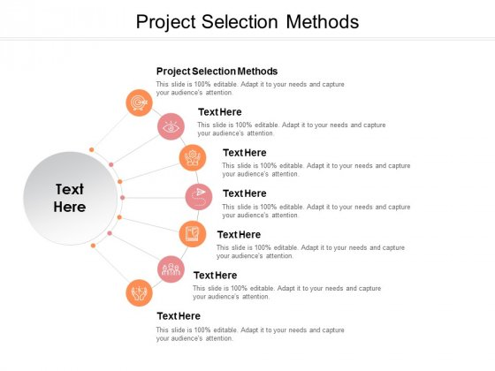 Project Selection Methods Ppt PowerPoint Presentation Slides Graphics Design Cpb