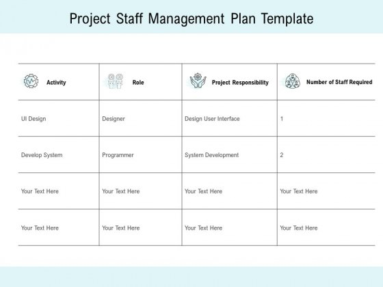 Project Staff Management Plan Template Ppt PowerPoint Presentation Layouts Example Introduction