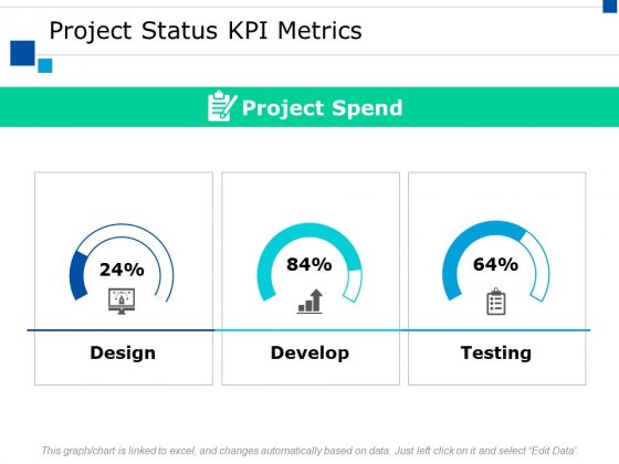 Project Status Kpi Metrics Slide Ppt PowerPoint Presentation Model Picture