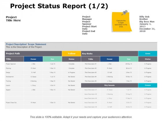 Project_Status_Report_Ppt_PowerPoint_Presentation_Pictures_Slides_Slide_1