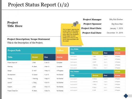 Project_Status_Report_Ppt_PowerPoint_Presentation_Styles_Tips_Slide_1