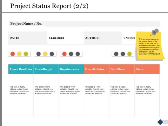 Project_Status_Report_Requirements_Ppt_PowerPoint_Presentation_Gallery_Infographics_Slide_1