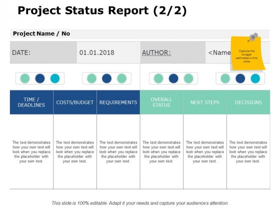 Project_Status_Report_Requirements_Ppt_PowerPoint_Presentation_Model_Themes_Slide_1