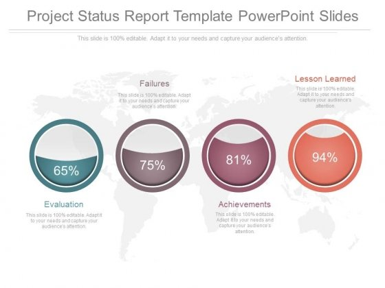 project status report template powerpoint slides - powerpoint, Modern powerpoint