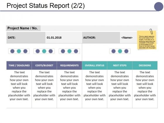 Project Status Report Template Ppt PowerPoint Presentation Model Background Designs