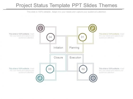 Project Status Template Ppt Slides Themes