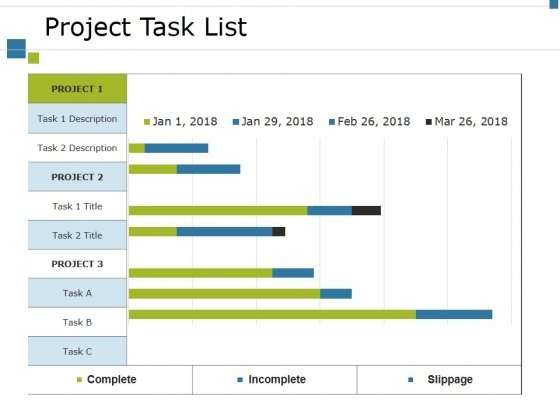 Project Task List Template 1 Ppt PowerPoint Presentation File Icons