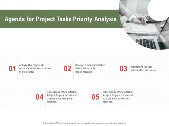 Project Tasks Priority Analysis Agenda For Project Tasks Priority Analysis Ppt Infographic Template Grid PDF