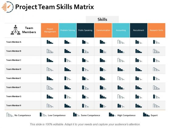 Project Team Skills Matrix Ppt PowerPoint Presentation Styles Example Introduction