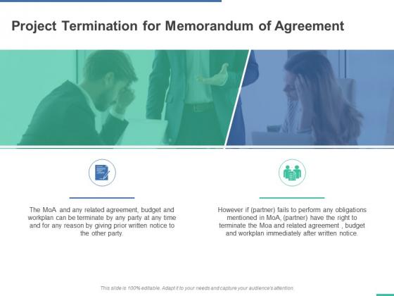 Project Termination For Memorandum Of Agreement Ppt PowerPoint Presentation Portfolio Slide Download