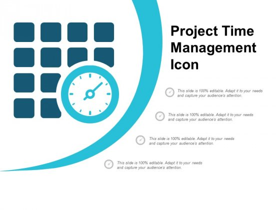 Project Time Management Icon Ppt PowerPoint Presentation Show Background Image