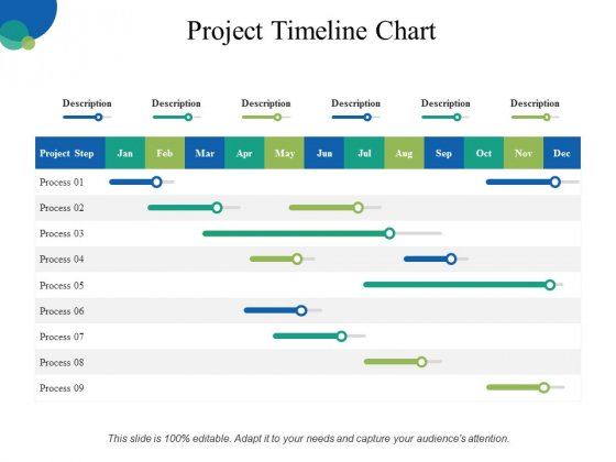 project timeline chart ppt powerpoint presentation slides graphics