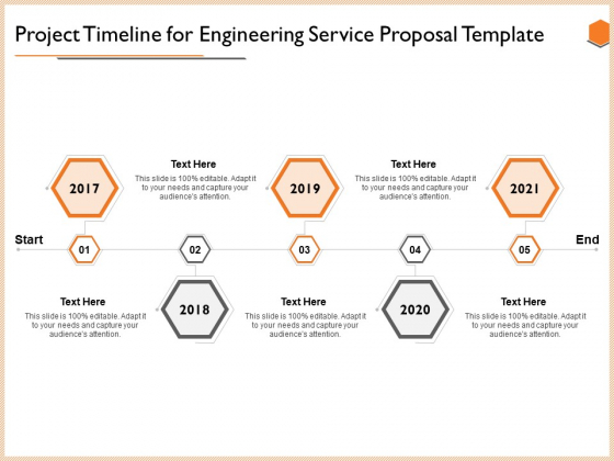 Project Timeline For Engineering Service Proposal Template Mockup PDF