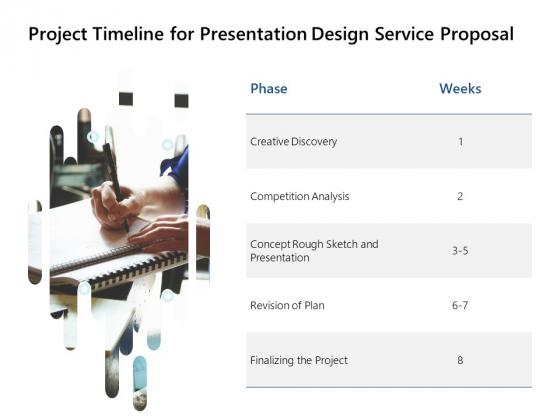 Project Timeline For Presentation Design Service Proposal Ppt PowerPoint Presentation Portfolio Clipart Images
